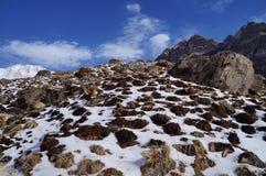 День базового лагеря Annapurna ясный Стоковое фото RF