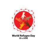 День беженца мира 20-ого июня Иллюстрация вектора