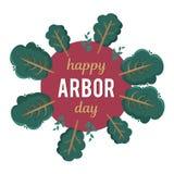 День беседки Изображение дерева Иллюстрация вектора на праздник Символ arboriculture, лесов, земледелия космос Стоковое фото RF
