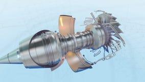 День белизны двигателя авиалайнера самолета турбореактивности бесплатная иллюстрация