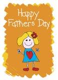день будет отцом девушки счастливой иллюстрация штока