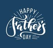 день будет отцом счастливого Литерность нарисованная рукой для поздравительной открытки Стоковое Изображение