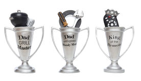 день будет отцом трофеев Стоковое Изображение RF