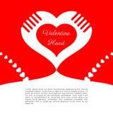 День Валентайн любов сердца, красная предпосылка, космос белизны текста, конспект, вебсайт знамени стоковое фото