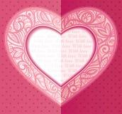 День Валентайн поздравительной открытки вектора Стоковая Фотография RF