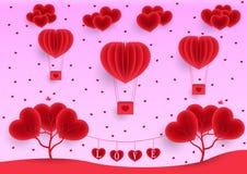 День Валентайн, розовая предпосылка поздравительной открытки иллюстрация вектора