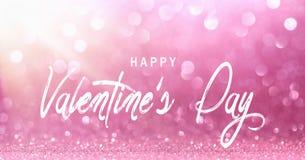 День Валентайн, яркое розовое светлое влияние Bokeh стоковая фотография rf