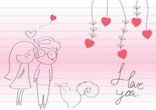 день валентинки влюбленности Стоковое фото RF