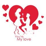 День валентинки вы re ` мое изображение вектора влюбленности Стоковое Изображение