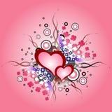 День валентинки, элемент дизайна иллюстрации винтажный Сердце grunge вектора Стоковая Фотография RF