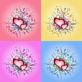 День валентинки, элемент дизайна иллюстрации винтажный Сердце grunge вектора Стоковое фото RF