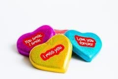 День валентинки, красочное сердце шоколада Стоковое Изображение RF