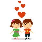 День валентинки мальчика и девушки Стоковые Фотографии RF