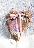 День валентинки печений пряника в форме сердц Стоковые Изображения RF