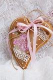День валентинки печений пряника в форме сердц Стоковое Изображение