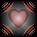 День валентинки сердца элегантности с предпосылкой угла кривой Стоковое Фото