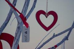 День валентинки, сердце и карточка валентинки Стоковые Изображения