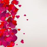 День валентинок. Абстрактные бумажные сердца. Любовь Стоковая Фотография