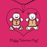 День валентинок карточки счастливый бесплатная иллюстрация