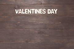 День валентинок на деревянном backgroud с космосом экземпляра Стоковое фото RF