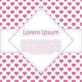 День валентинок с рамкой текста косоугольника и много сердец иллюстрация штока