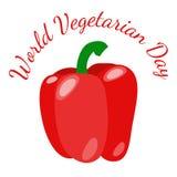 День вегетарианца мира Овощи - красный болгарский перец Стоковая Фотография RF