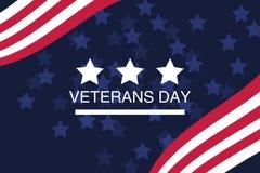 День ветеранов Удостаивающ всех которые служили Иллюстрация с звездами Стоковые Изображения RF