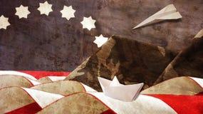 День ветеранов Флаг и Mimetic стоковая фотография rf