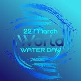 День воды мира вектора иллюстрации иллюстрация вектора