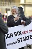 День 2017 восстания 10-ое марта в Тибете, Bern Швейцария Стоковое Изображение