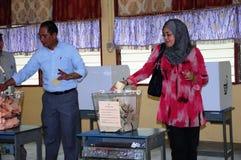 День выборов всеобщих выборов 2013 Малайзии 13th Стоковое фото RF