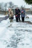 День высвобождения в русской деревне в зоне 29-ое января 2016 Kaluga стоковое изображение rf