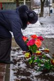 День высвобождения в русской деревне в зоне 29-ое января 2016 Kaluga стоковая фотография rf