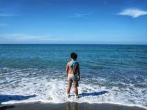 День в пляже стоковые фотографии rf