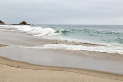 День в пляже Laguna, Калифорния стоковое фото rf