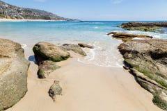 День в пляже Laguna, Калифорния стоковая фотография