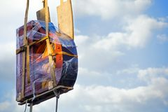 День голубого неба транспорта рояля стоковое фото