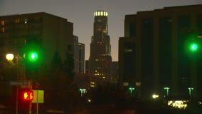 День горизонта ЛА к Nighttime-упущению акции видеоматериалы