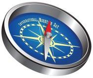День горы компаса международный иллюстрация вектора