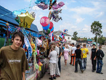 День деревни в зоне Kaluga России Стоковое Изображение RF