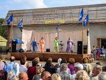 День деревни в зоне Kaluga России Стоковые Изображения