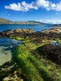 День лет на пляже Derrynane, Керри Ирландии графства Стоковое Изображение RF