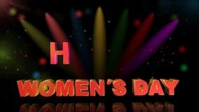 День женщин, анимация Стоковое Изображение