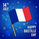 День захвата Бастилии Иллюстрация вектора на праздник Стоковые Фото