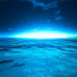 День захода солнца Sae красивый морем Стоковое Фото