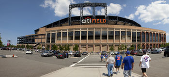 День игры - стадион Mets - ферзи Нью-Йорк Стоковое Фото