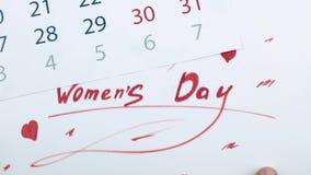 День и календарь ` s женщин акции видеоматериалы