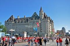 2011 день Канады в холме парламента, Оттава, Канада стоковые фотографии rf