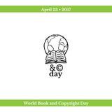 День книги и авторского права мира бесплатная иллюстрация