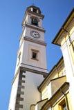 День колокола башни церков olona Vedano солнечный Стоковые Фото